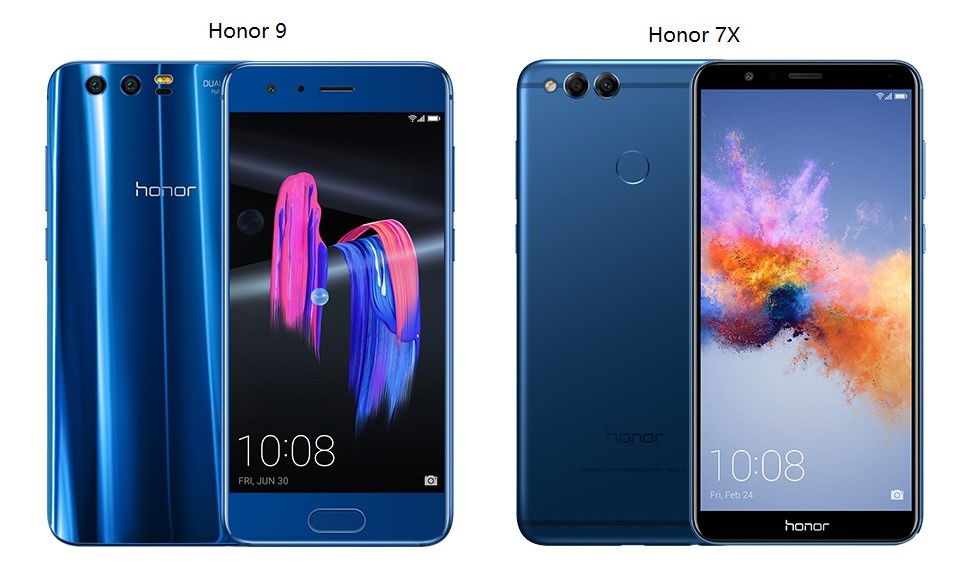 compare mobile phones-honor 7x vs honor 9
