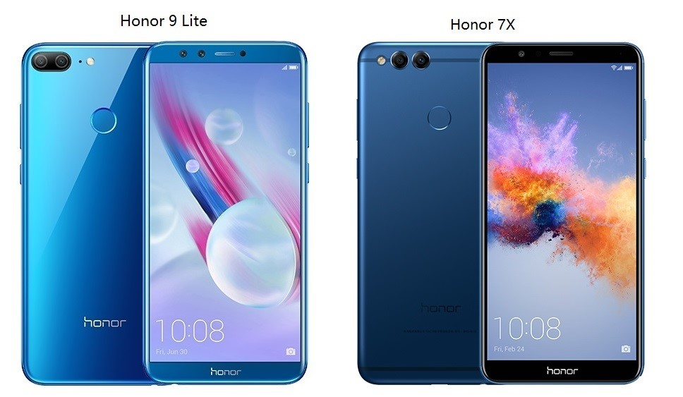 compare HONOR mobile phones – HONOR 9 lite vs HONOR 7x
