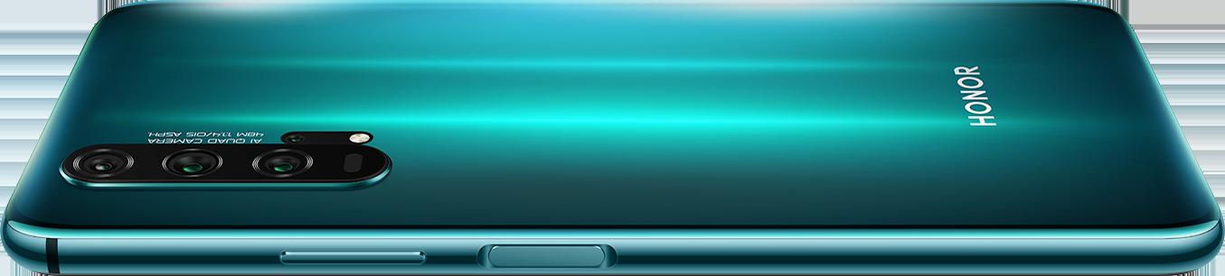 HONOR 20 PRO's all-new Dynamic Holographic design Phantom Blue