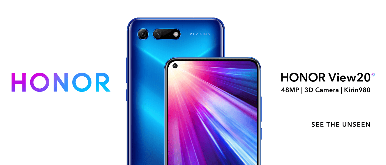 HONOR REVEALS HONOR VIEW20 WITH WORLD'S FIRST 48MP AI ULTRA CLARITY AND 3D CAMERA AT CES 2019